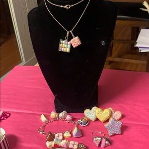 Cake/Cookie Necklace*Bracelet*Ring*Hair Clip*Ear